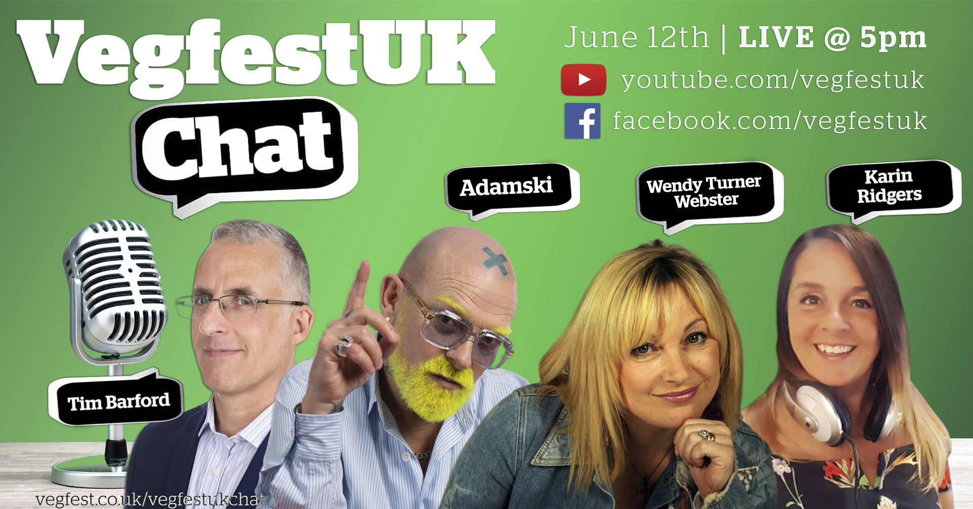 VegfestUK Chat is back for a third instalment with TWO special guests